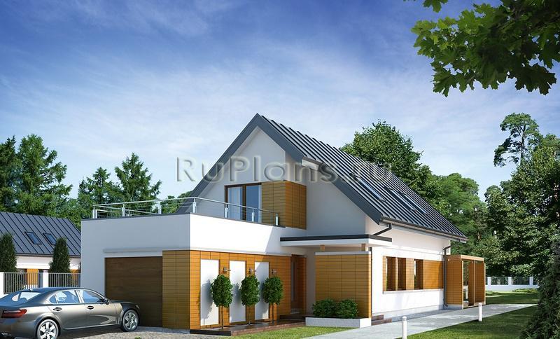 Проект одноэтажного узкого дома с ...: https://ruplans.ru/proekti/proekti_462.html