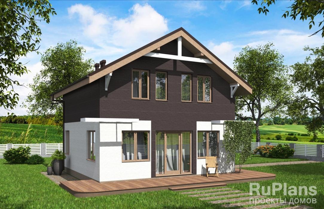 Одноэтажный жилой дом с мансардой Rg5774