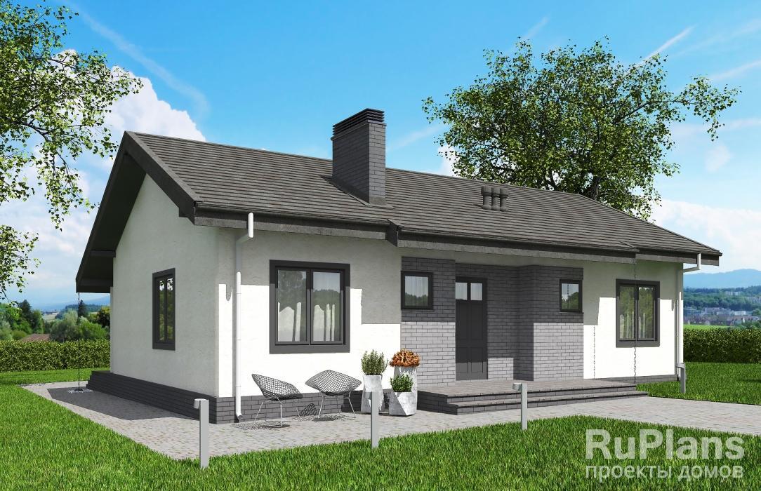 Одноэтажный жилой дом Rg5788