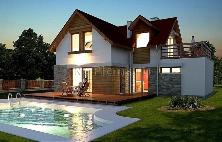 Проект дома с гаражом в классическом
