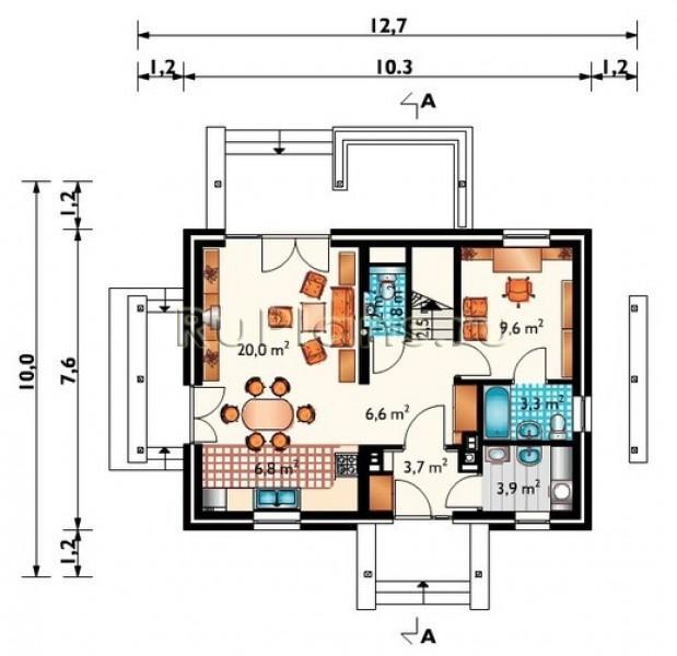 Дом 1 этаж с мансардой