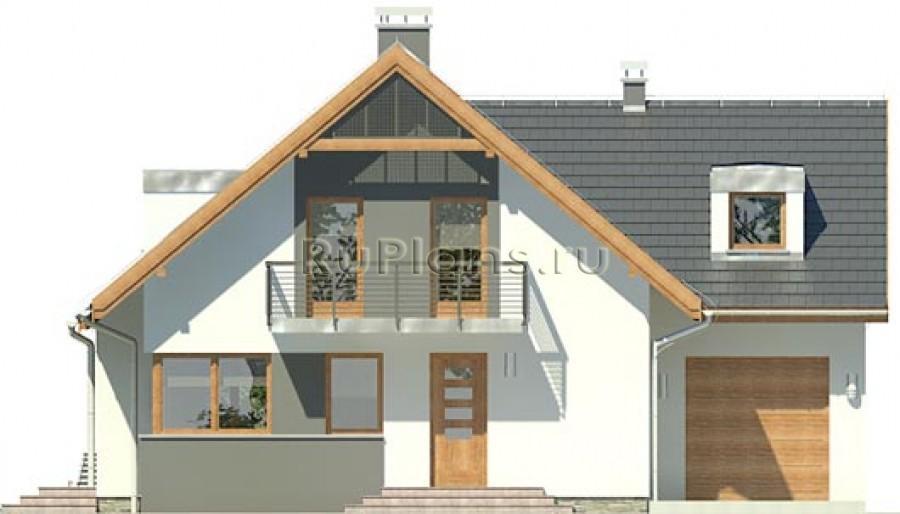 Проект дома с мансардой, террасой и гаражом в Норильске от 100 до 150 м. Размеры дома: 13 Х 10 м...