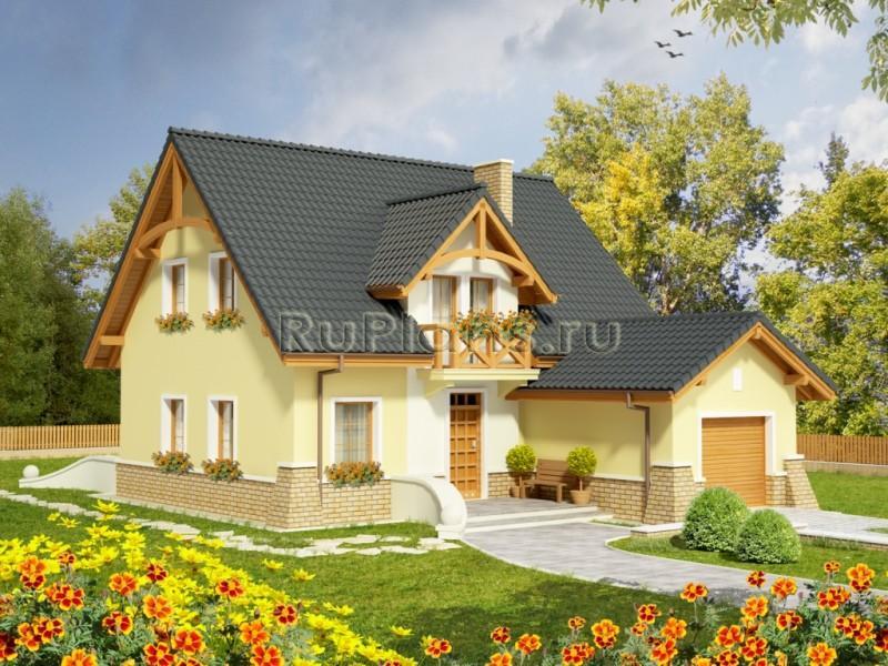 фото дачных домов с мансардой