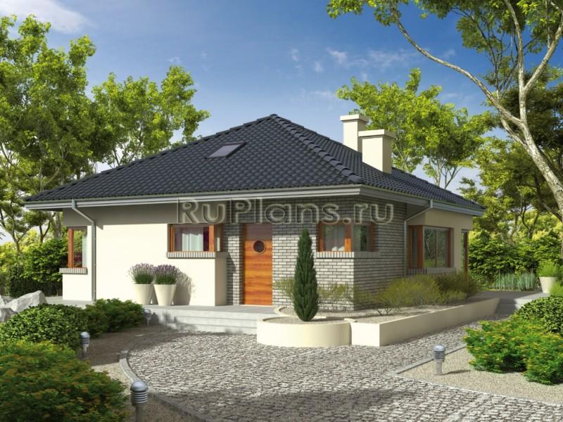 Проекты дачных одноэтажных домов фото