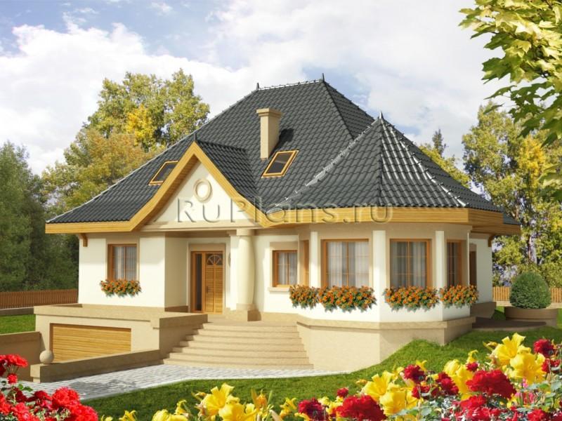 состава пограничного проект дома с цокалем и гаражом Федеральный
