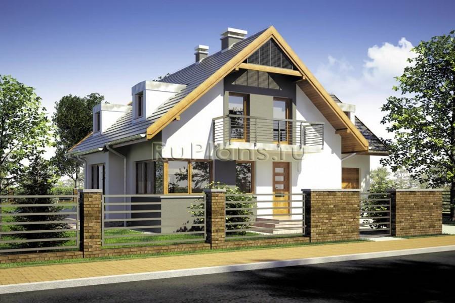 дом с мансардой до 100 кв.м фото