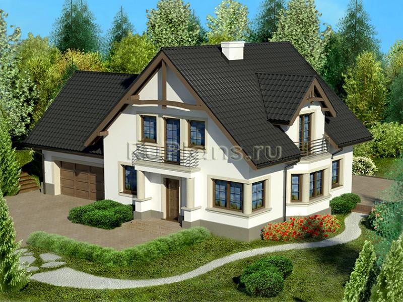 Дома двухэтажный дом с мансардой из