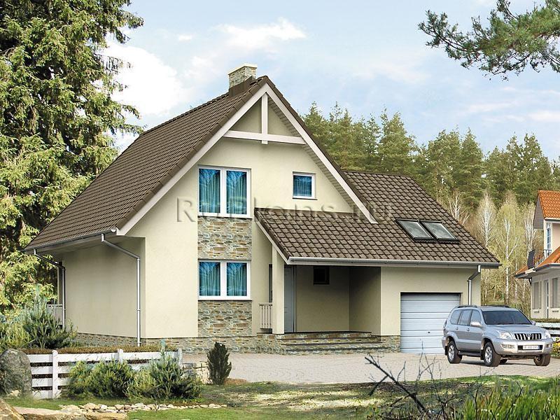 Деревянный дом с гаражем проект