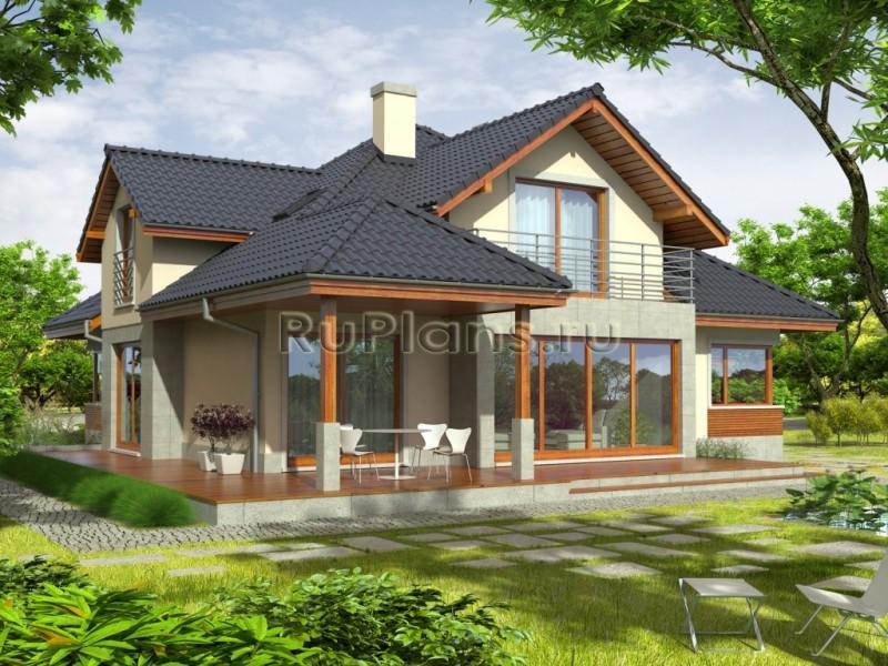 Дома с верандой и мансардой фото