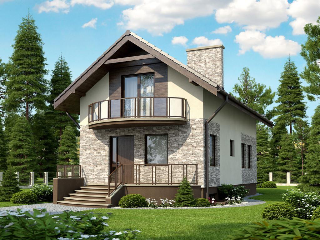 Проекты домов на узком участке фото