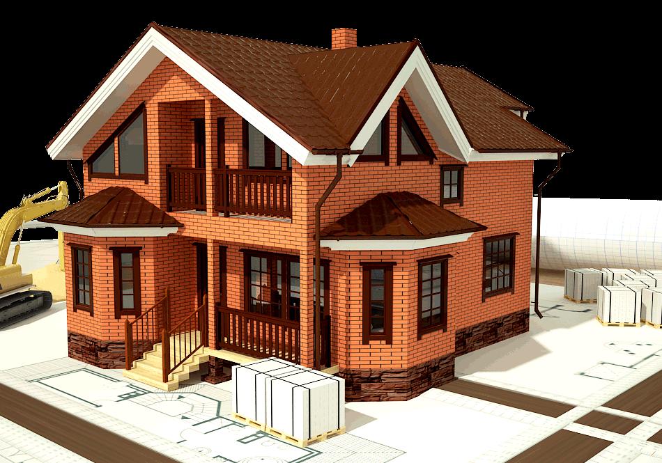 Кирпичные дома. Проекты домов из кирпича