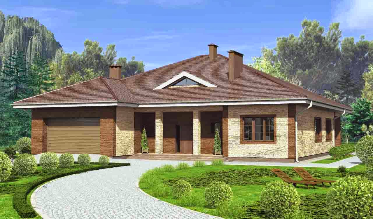 Одноэтажные дома и коттеджи
